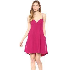 Black Halo McAdam Jujube Pink Baby Doll Dress